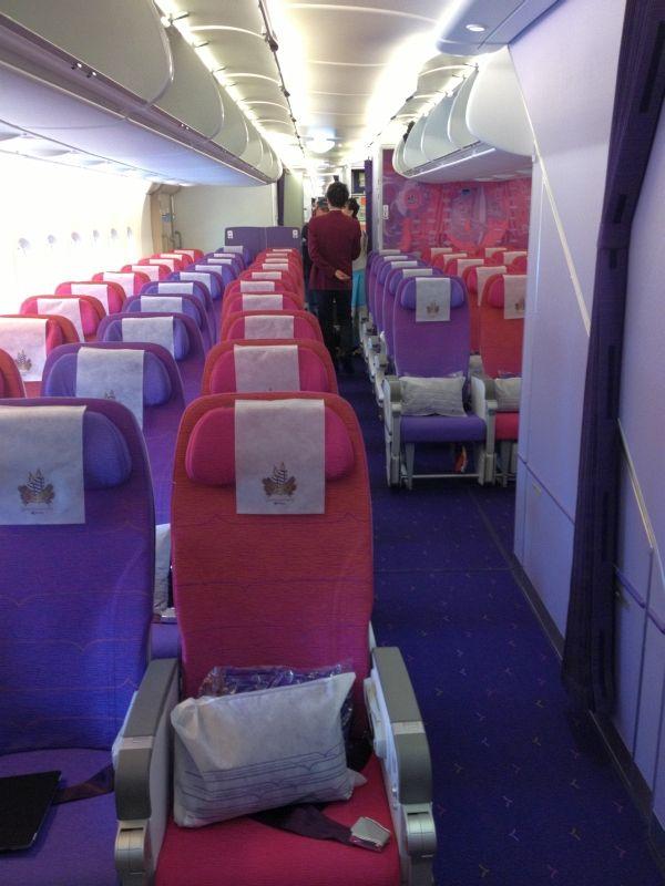 thai airways flug mit dem  von frankfurt nach bangkok