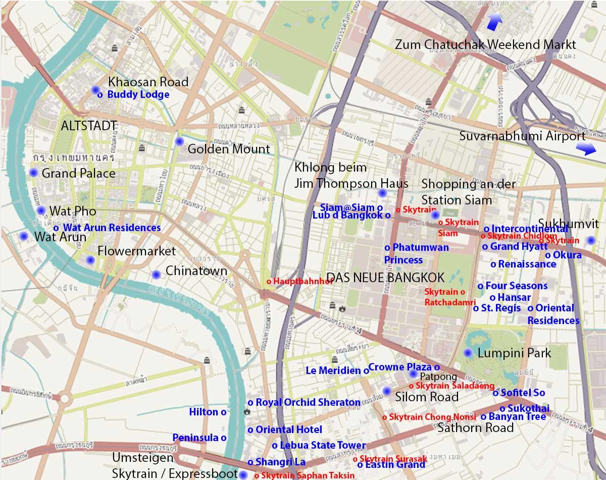 Bangkok Karte.Hotels Bangkok Wie Finde Ich Das Beste Hotel In Bangkok