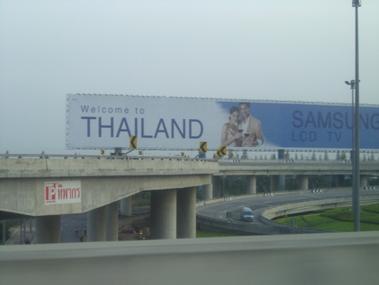Billboard Welcome to Thailand